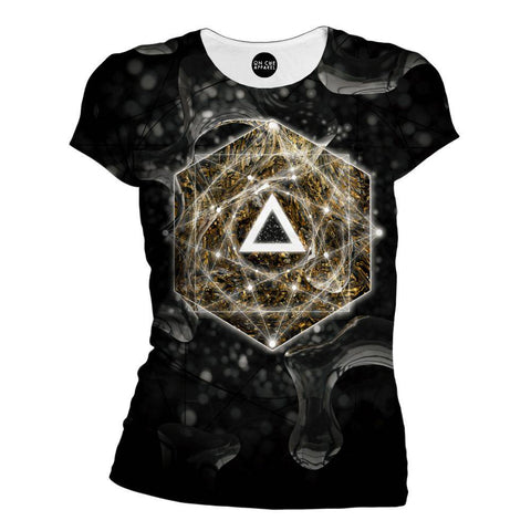 Dark Geometry Womens T-Shirt
