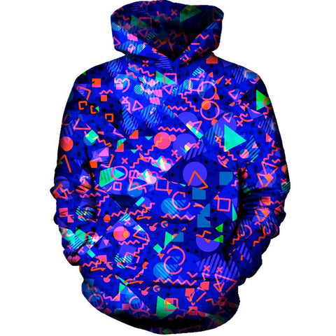 Image of Blue Shapes Hoodie