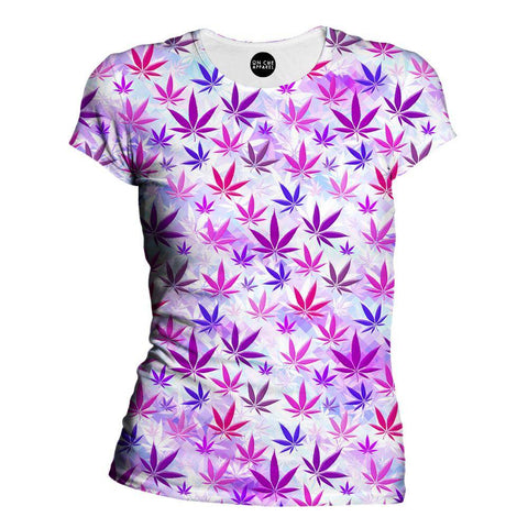 Colorful Weed Womens T-Shirt
