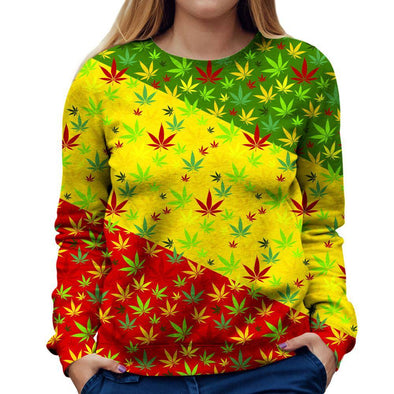 Weed Womens Sweatshirt