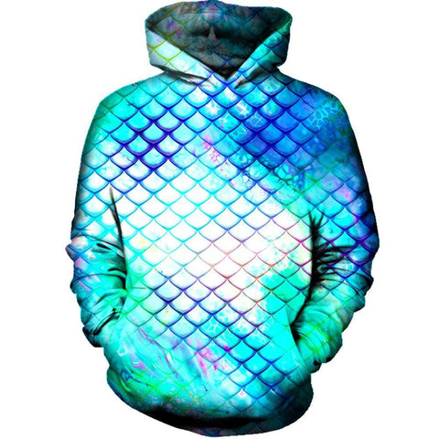 Image of Teal Dragon Scales Hoodie