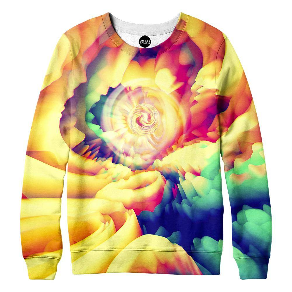 Abstract Spin Womens Sweatshirt