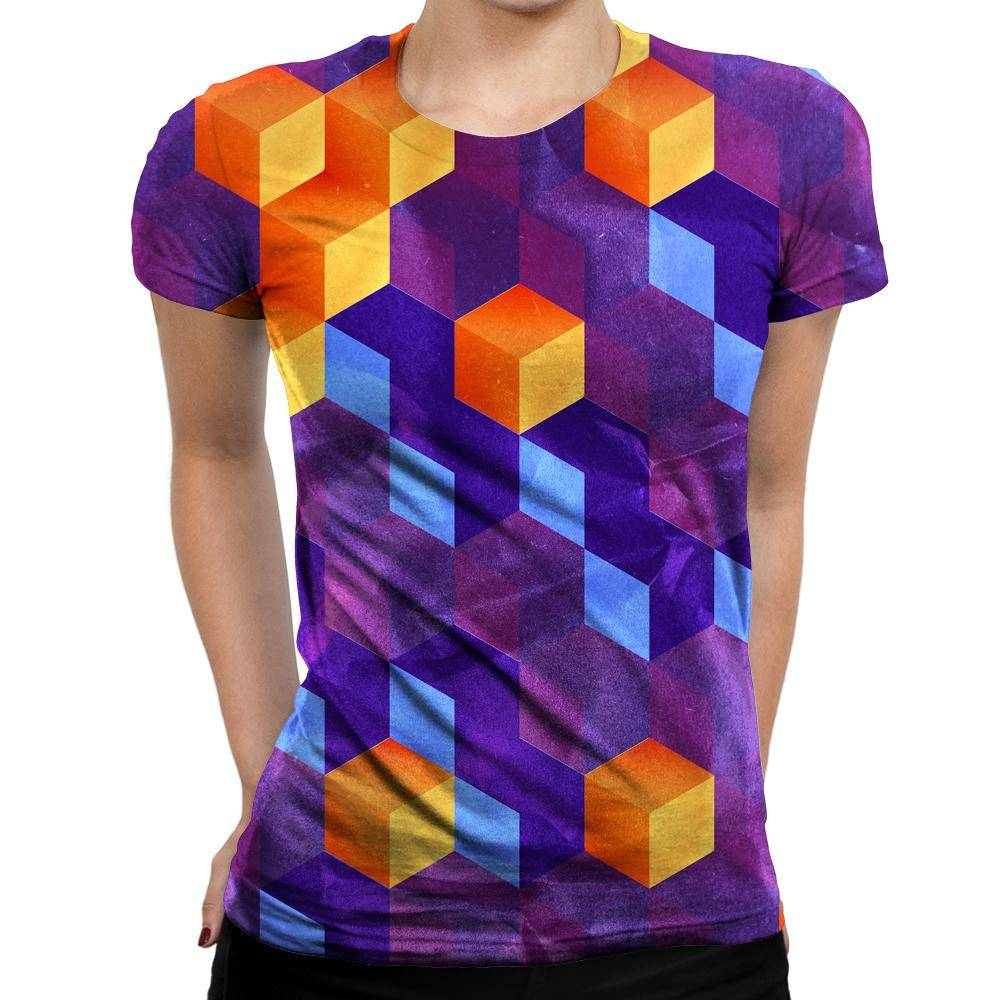 Cubed Womens T-Shirt
