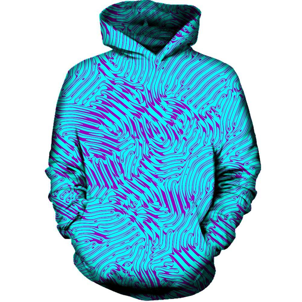 Squiggly Line Womens Hoodie