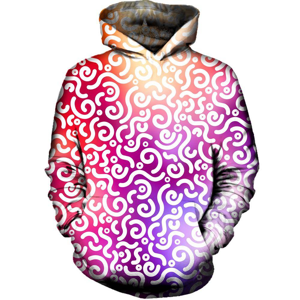 Abstract Rotation Womens Hoodie