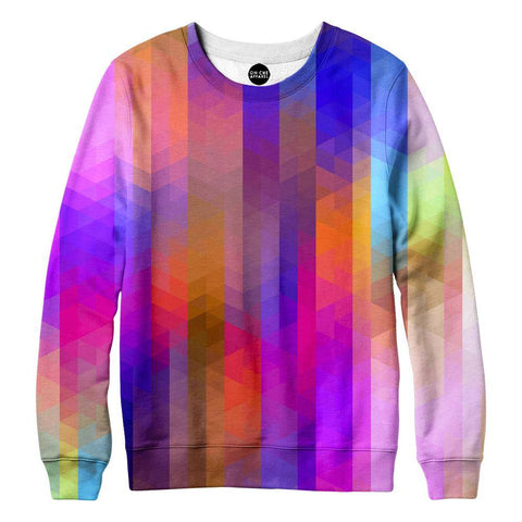 Image of Triangle Pixels Womens Sweatshirt