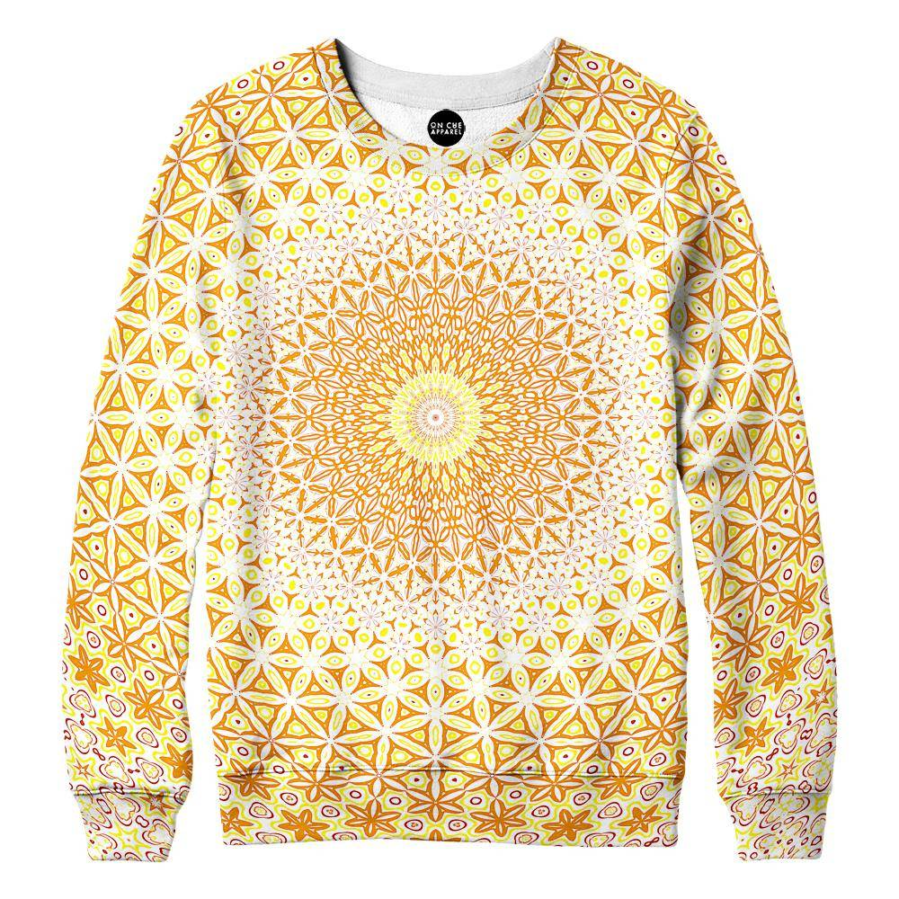 Abstract Flower Yellow Womens Sweatshirt