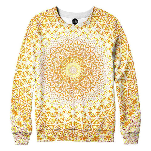 Image of Abstract Flower Yellow Womens Sweatshirt