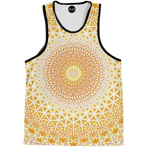 Image of Abstract Flower Yellow Tank Top