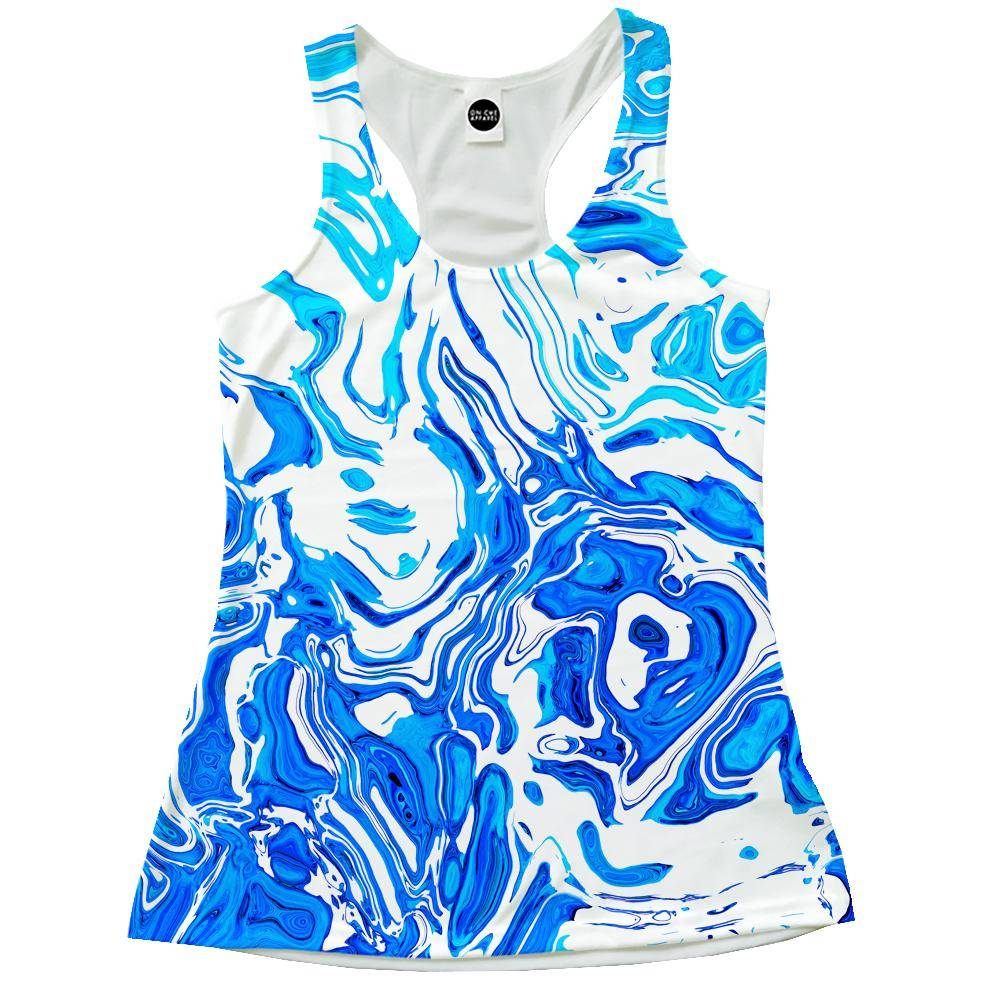 Abstract Liquid Racerback