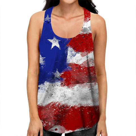 Image of American Flag Racerback