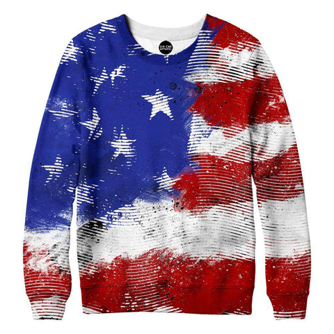 Image of American Flag Lines Womens Sweatshirt