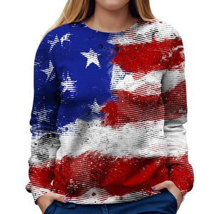 American Flag Womens Sweatshirt