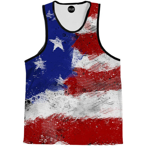 Image of American Flag Lines Tank Top
