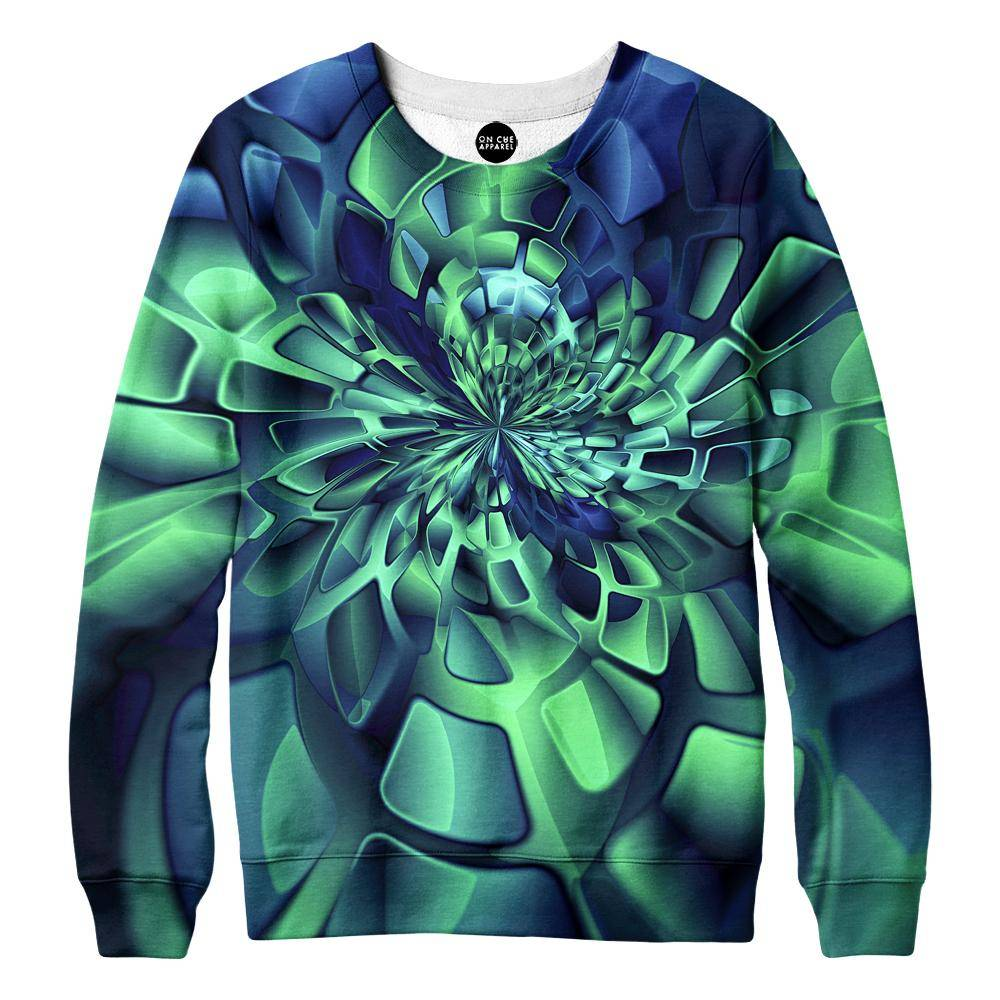 Green Fractal Sweatshirt