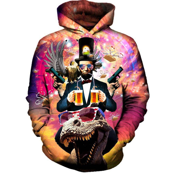 Abraham Lincoln Merica Hoodie