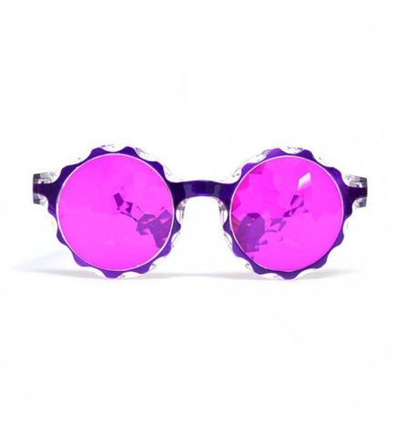 Image of GloFX * Crown Purple Kaleidoscope Glasses- Magenta LE
