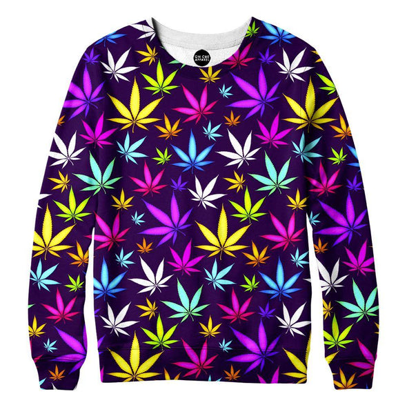 Black Weed Womens Sweatshirt