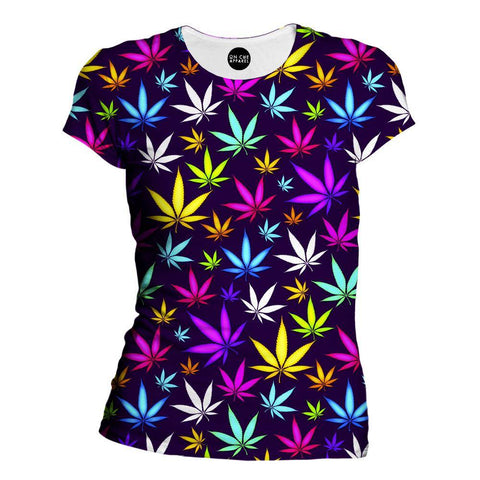 Black Weed Womens T-Shirt