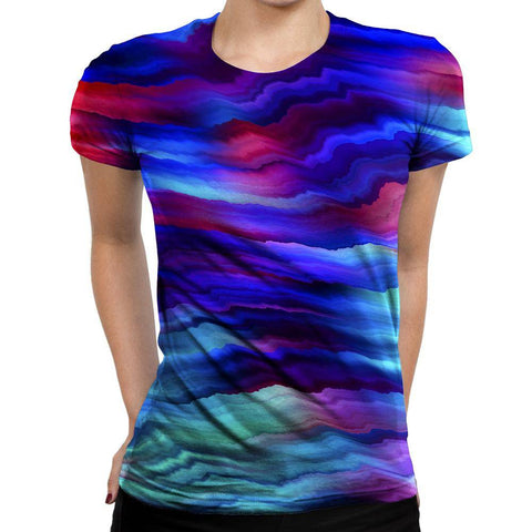 Image of Wavy Womens T-Shirt