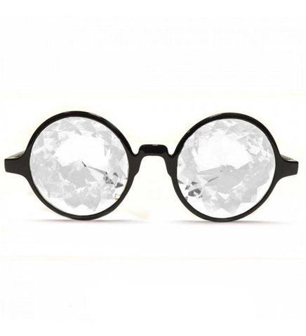 GloFX * Black Kaleidoscope Glasses – Clear