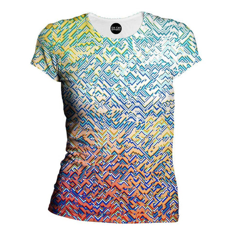 Image of Color Blocks Womens T-Shirt