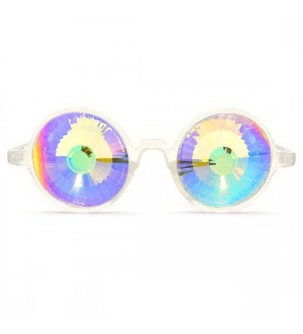 Image of GloFX * Clear Kaleidoscope Glasses- Rainbow Wormhole