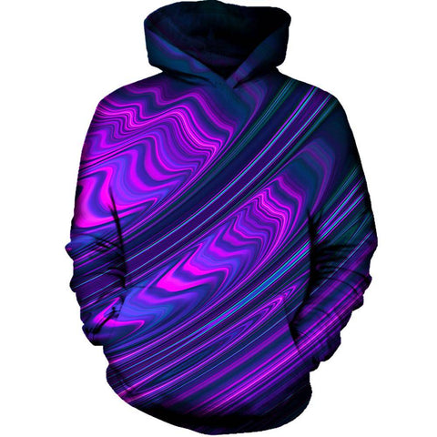 Purple Waves Womens Hoodie