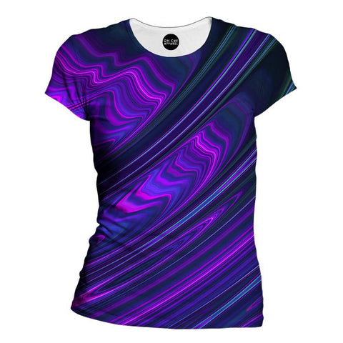 Image of Purple Waves Womens T-Shirt
