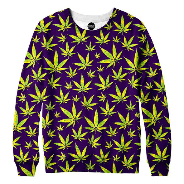 Marijuana Leaves Womens Sweatshirt