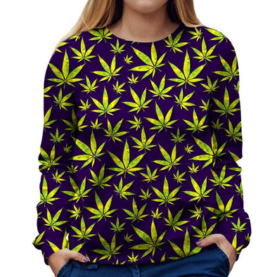 Marijuana Womens Sweatshirt