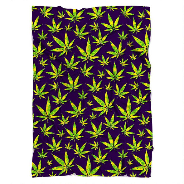 Marijuana Leaves Blanket