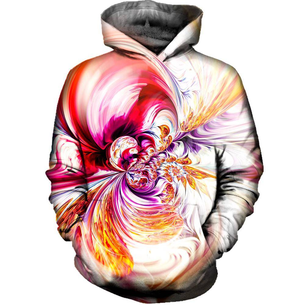 Abstract Waves Womens Hoodie