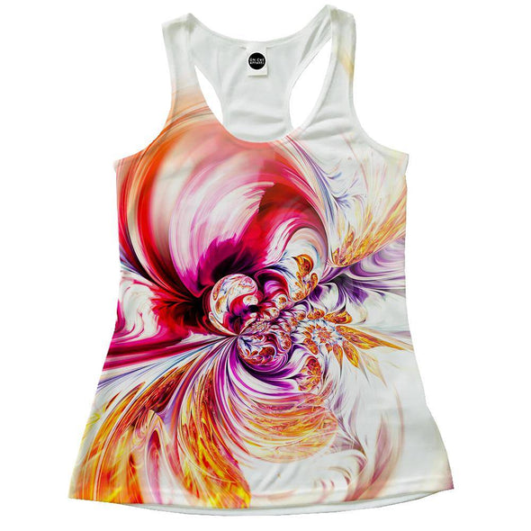 Abstract Waves Racerback