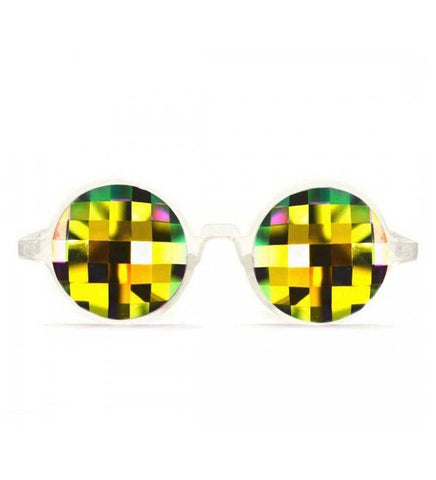 Image of GloFX * Clear Kaleidoscope Glasses – Rainbow Bug Eye – Flat Back