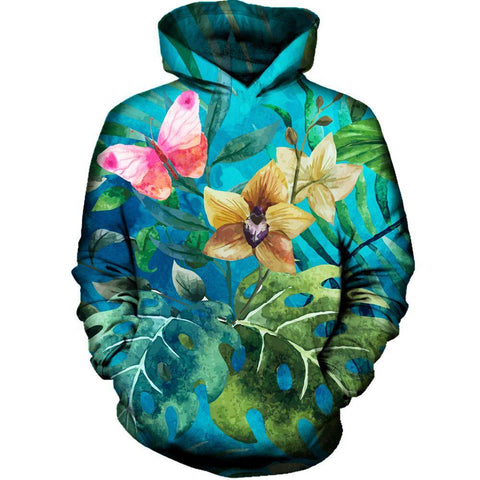 Image of Pink Butterfly Hoodie