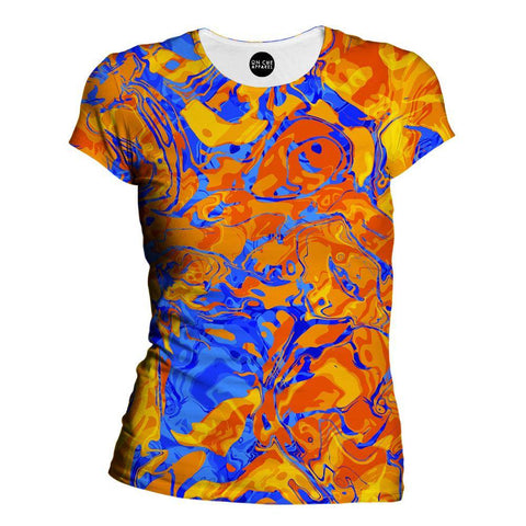 Orange Water Womens T-Shirt