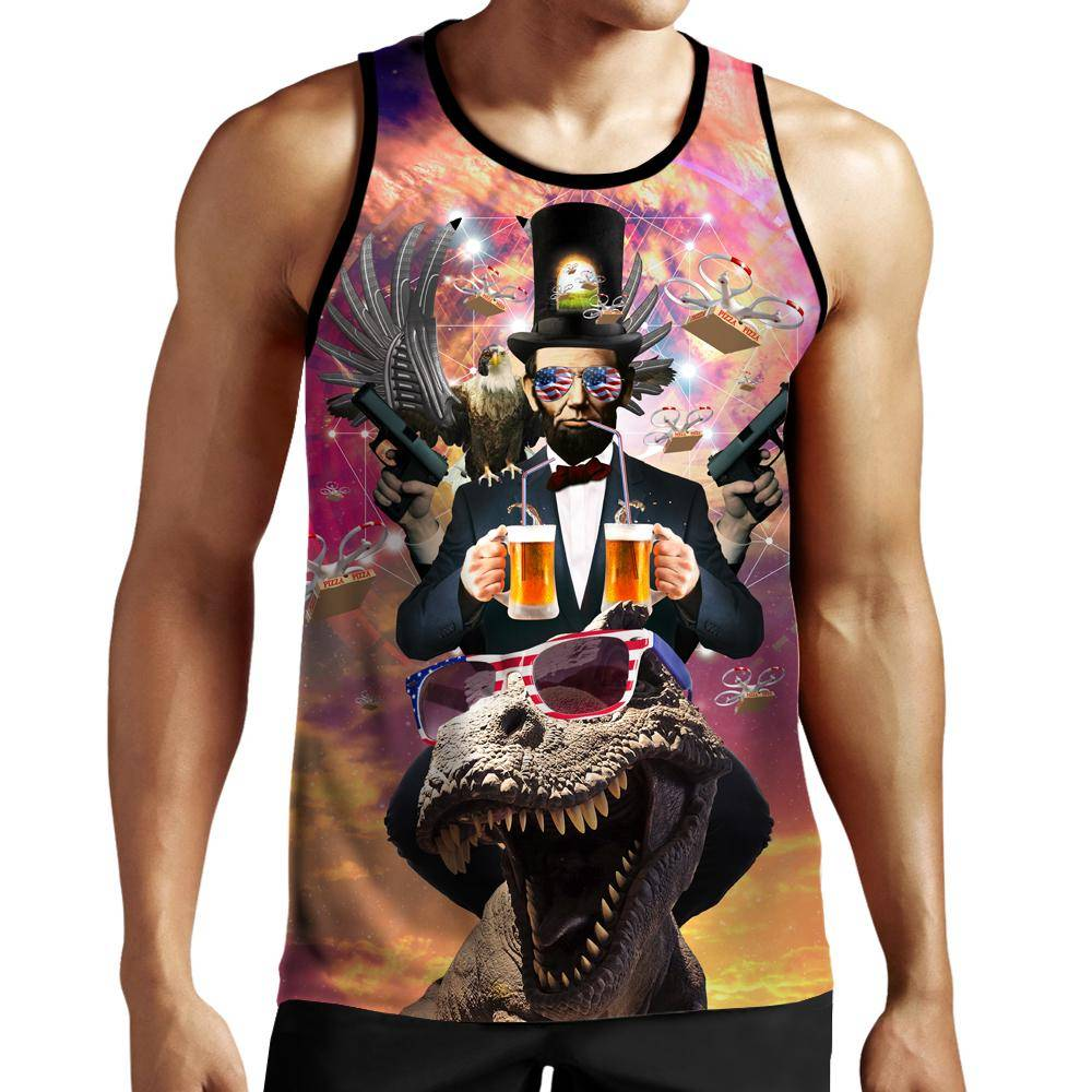 46aed8d9ac31c7 Abraham Lincoln Merica Tank Top