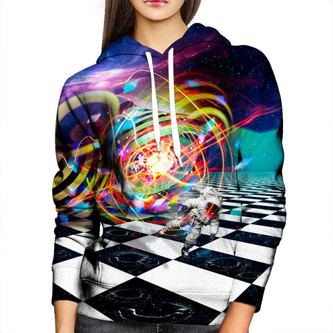 Image of Astronaut Absorption Womens Hoodie