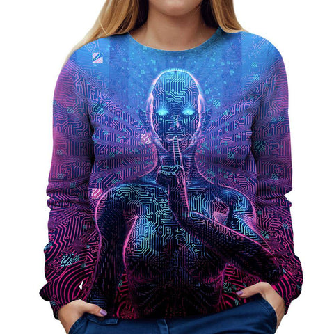Image of Robot Womens Sweatshirt