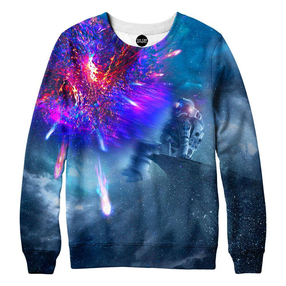 Astronaut Galaxy Womens Sweatshirt