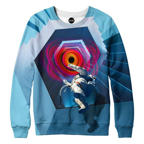 Image of Into The Unknown Astronaut Womens Sweatshirt