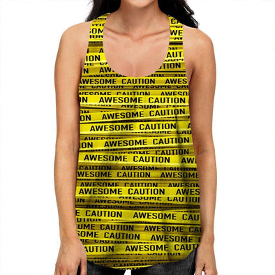 Caution Racerback