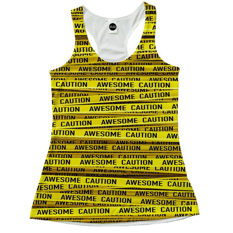 Awesome Caution Racerback