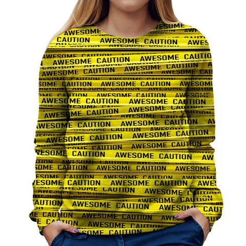 Image of Caution Womens Sweatshirt