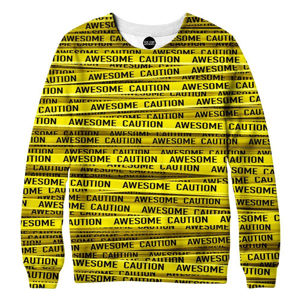 Awesome Caution Womens Sweatshirt