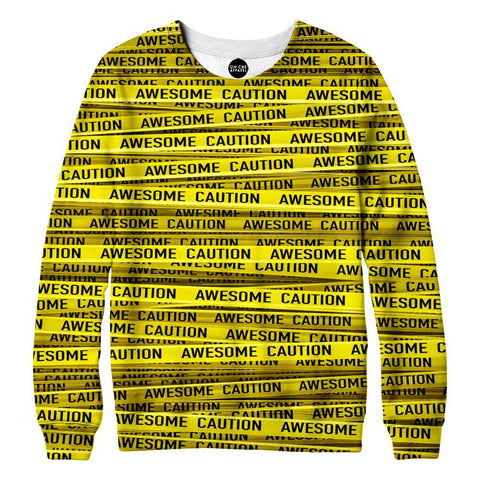 Image of Awesome Caution Womens Sweatshirt