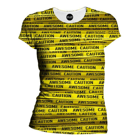 Awesome Caution Womens T-Shirt