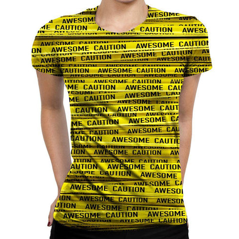 Image of Caution Womens T-Shirt