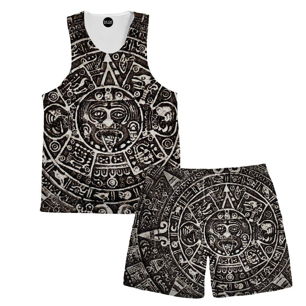 Aztec Sun Tank And Shorts Rave Combo